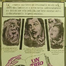 Cine: RE91D TWICE-TOLD TALES VINCENT PRICE POSTER ORIGINAL ARGENTINO 75X110. Lote 12463777