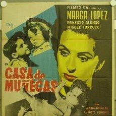 Cine: ID65 CASA DE MUÑECAS JOSEP RENAU MARGA LOPEZ POSTER ORIGINAL MEJICANO 70X94. Lote 13410402