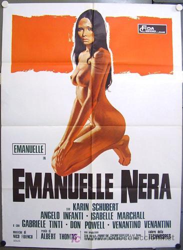 QS25D EMANUELLE NEGRA LAURA GEMSER SEXY POSTER ORIGINAL 100X140 ITALIANO (Cine - Posters y Carteles - Terror)