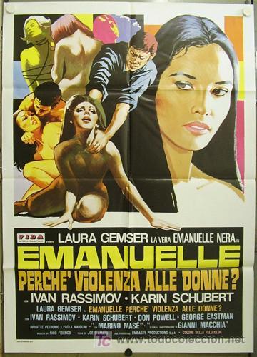 HA48 EMANUELLE ALREDEDOR DEL MUNDO JOE D'AMATO LAURA GEMSER POSTER ORIGINAL 100X140 ITALIANO (Cine - Posters y Carteles - Terror)