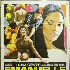 Cine: HA48 EMANUELLE ALREDEDOR DEL MUNDO JOE D'AMATO LAURA GEMSER POSTER ORIGINAL 100X140 ITALIANO. Lote 13849910