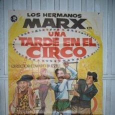 Cine: UNA TARDE EN EL CIRCO HERMANOS MARX POSTER ORIGINAL 70X100. Lote 20691261