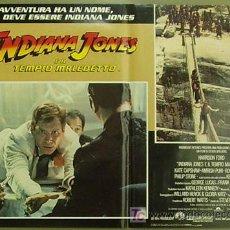 Cine: ZM83D INDIANA JONES Y EL TEMPLO MALDITO STEVEN SPIELBERG HARRISON FORD SET 8 POSTERS ITALIANO 47X68. Lote 152133348