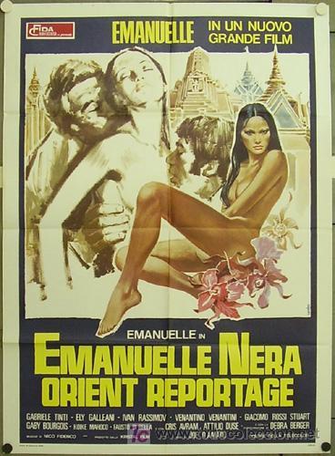 QS17 EMANUELLE NEGRA SE VA AL ORIENTE LAURA GEMSER JOE D'AMATO POSTER ORIGINAL ITALIANO 100X140 (Cine - Posters y Carteles - Terror)
