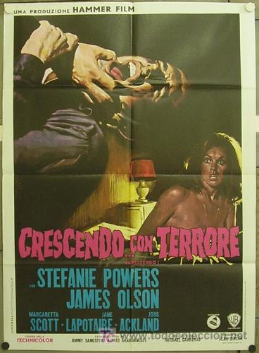 HO02D CRESCENDO HAMMER STEFANIE POWERS POSTER ORIGINAL 100X140 ITALIANO (Cine - Posters y Carteles - Terror)