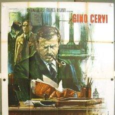 Cine: RR63D PIGALLE BARRIO PROHIBIDO MAIGRET GINO CERVI GEORGES SIMENON POSTER ORIGINAL 140X200 ITALIANO. Lote 15463574