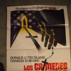 Cine: CARTEL DE CINE ORIGINAL: LOS CRÍMENES DEL ROSARIO. AÑOS 70. TAMAÑO 70 X 100. Lote 12649010