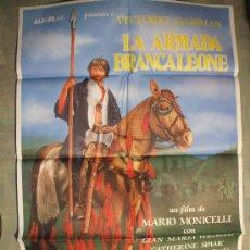 Cine: CARTEL DE CINE ORIGINAL: LA ARMADA BRANCALEONE. AÑOS 70. TAMAÑO 70 X 100. Lote 260843385
