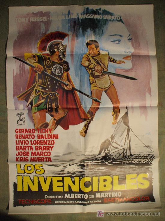 cartel de cine original: los invencibles. años - Comprar Carteles y ...