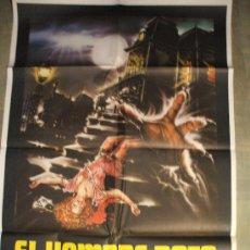 Cine: CARTEL DE CINE ORIGINAL: EL HOMBRE RATA. AÑOS 70.TAMAÑO 70 X 100. Lote 204213171