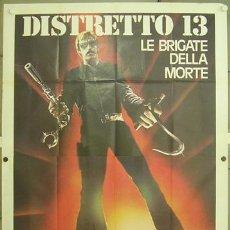 Cine: HO55 ASALTO A LA COMISARIA DEL DISTRITO 13 JOHN CARPENTER POSTER ORIGINAL 140X200 ITALIANO. Lote 19931904
