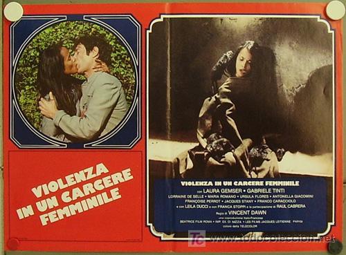 VF30D VIOLENCIA EN UNA CARCEL DE MUJERES EMANUELLE LAURA GEMSER SET 4 POSTERS ORIG ITALIANO 47X68 (Cine - Posters y Carteles - Acción)
