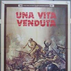 Cine: YE36D GUERRA CIVIL ESPAÑOLA ENRICO MARIA SALERNO UNA VITA VENDUTA POSTER ORIGINAL ITALIANO 100X140. Lote 19986872