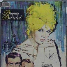 Cine: HS13 UNA PARISINA BRIGITTE BARDOT POSTER ORIGINAL 70X100 ESTRENO. Lote 19048330