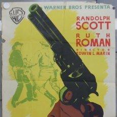 Cine: HS25 COLT 45 RANDOLPH SCOTT RUTH ROMAN MCP POSTER ORIGINAL 70X100 ESTRENO LITOGRAFIA. Lote 12726349