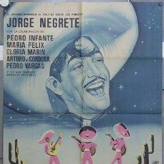 Cine: ZP96D EL CHARRO INMORTAL JORGE NEGRETE MARIA FELIX POSTER ORIGINAL 70X100 ESTRENO LITOGRAFIA. Lote 12760612