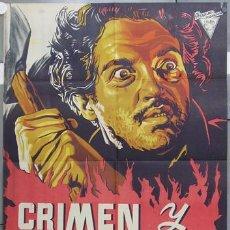 Cine: HS51 JOSEP RENAU CRIMEN Y CASTIGO ROBERTO CAÑEDO POSTER ORIGINAL 70X100 ESTRENO LITOGRAFIA. Lote 12760638