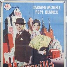 Cine: HS38 MARAVILLA PEPE BLANCO CARMEN MORELL POSTER ORIGINAL ESTRENO 70X100. Lote 12760855