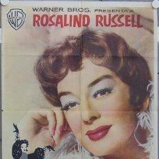 Cine: HS84 TIA Y MAMA ROSALIND RUSSELL POSTER ORIGINAL ESTRENO 70X100. Lote 12768087