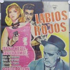 Cine: HS82 LABIOS ROJOS JESUS FRANCO MANOLO MORAN POSTER ORIGINAL ESTRENO 70X100 . Lote 22289191