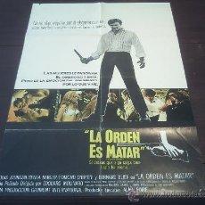 Cine: POSTER ORIGINAL PEAU D'ESPION TO COMMIT A MURDER LA ORDEN ES MATAR LOUIS JOURDAN SENTA BERGER 1967. Lote 12749705