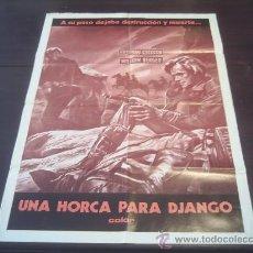 Cine: POSTER ORIGINAL PERUANO UNA LUNGA FILA DI CROCI UNA LARGA FILA DE CRUCES DJANGO STEFFEN BERGER 1969. Lote 12769250