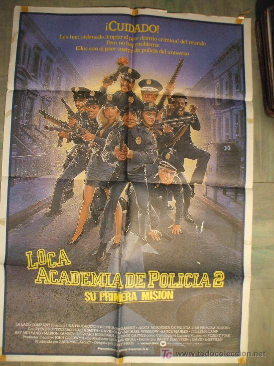CARTEL DE CINE ORIGINAL: LOCA ACADEMIA DE POLICÍA II. AÑOS 70.TAMAÑO 70 X 100 (Cine - Posters y Carteles - Comedia)