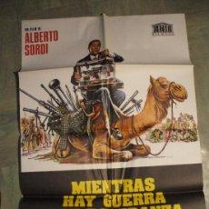 Cinema: CARTEL DE CINE ORIGINAL: MIENTRAS HAY GUERRA HAY ESPERANZA. AÑOS 70.TAMAÑO 70 X 100. Lote 13550654