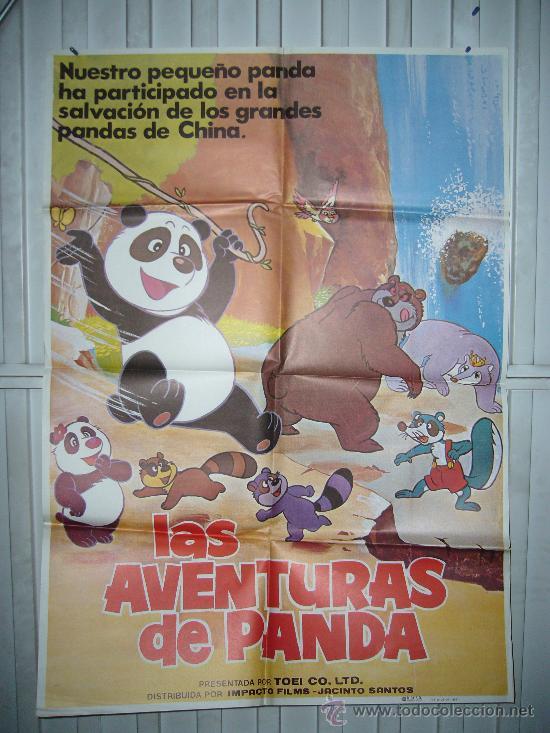 LAS AVENTURAS DE PANDA ANIMACION JAPONESA POSTER ORIGINAL YY (Cine - Posters y Carteles - Infantil)