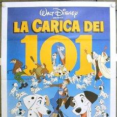Cine: HT74 101 DALMATAS WALT DISNEY POSTER ORIGINAL ITALIANO 100X140. Lote 13004001