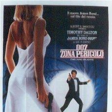 Cine: HT92 007 ALTA TENSION JAMES BOND TIMOTHY DALTON POSTER ORIGINAL ITALIANO 140X200. Lote 13017410