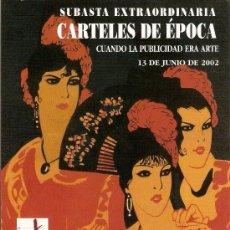Cine: CATALOGO SUBASTA SOBRE CARTELES DE ÉPOCA DE CINE,GUERRA CIVIL,DEPORTES,TURISMO,EXPOSICIONES,TOROS,. Lote 27555456
