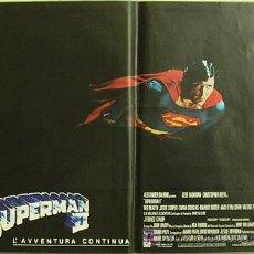 Cine: HV15 SUPERMAN 2 CHRISTOPHER REEVE SET 8 POSTERS ORIGINAL ITALIANO 47X68. Lote 13083367