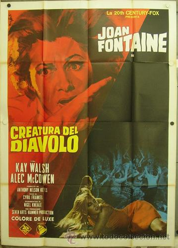 HW20 THE WITCHES / THE DEVIL'S OWN JOAN FONTAINE HAMMER POSTER ORIGINAL ITALIANO 140X200 (Cine - Posters y Carteles - Terror)