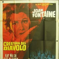 Cine: HW20 THE WITCHES / THE DEVIL'S OWN JOAN FONTAINE HAMMER POSTER ORIGINAL ITALIANO 140X200. Lote 17244756