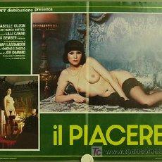 Cine: QO96 EL DESPERTAR DEL PLACER JOE D'AMATO LAURA GEMSER LILLI CARATI SET 6 POSTERS ORIG ITALIANO 47X68. Lote 13996361