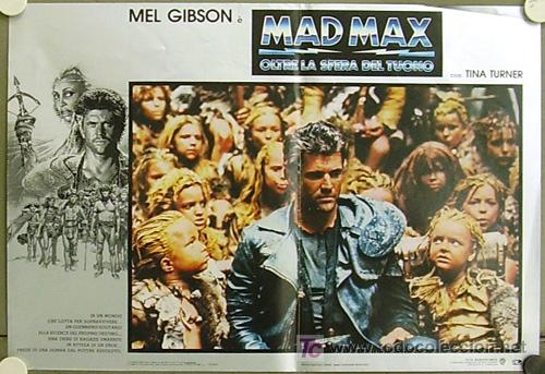 VX32D MAD MAX 3 MEL GIBSON TINA TURNER SET 6 POSTERS ORIGINAL ITALIANO 47X68 (Cine - Posters y Carteles - Acción)
