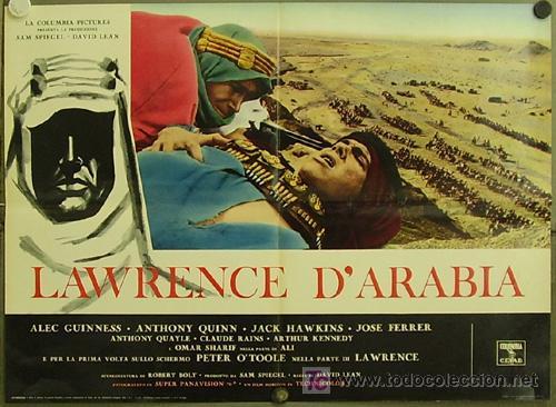 HW90 LAWRENCE DE ARABIA PETER O'TOOLE DAVID LEAN POSTER ORIGINAL ITALIANO 68X94 (Cine - Posters y Carteles - Aventura)