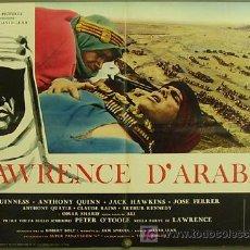 Cine: HW90 LAWRENCE DE ARABIA PETER O'TOOLE DAVID LEAN POSTER ORIGINAL ITALIANO 68X94. Lote 15440470