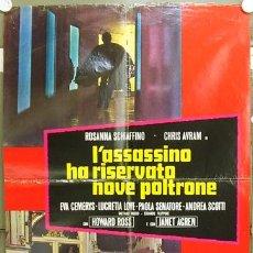 Cine: VE70D EL ASESINO HA RESERVADO NUEVE BUTACAS ROSANA SCHIAFFINO GIALLO POSTER ORIGINAL ITALIANO 68X94. Lote 15743850
