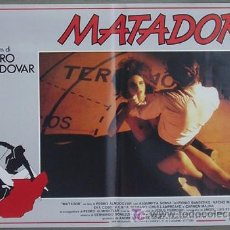 Cine: HX51 MATADOR PEDRO ALMODOVAR BANDERAS TOROS SET 6 POSTERS ORIGINAL ITALIANO 47X68. Lote 13188868
