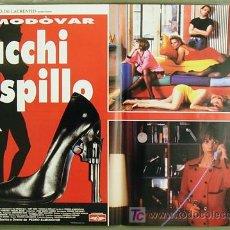 Cine: TO75D TACONES LEJANOS PEDRO ALMODOVAR MIGUEL BOSE VICTORIA ABRIL 6 POSTER ORIGINAL ITALIANO 47X68. Lote 19603631