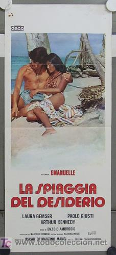 HY89 EMANUELLE ON TABOO ISLAND LAURA GEMSER POSTER ORIGINAL ITALIANO 33X70 (Cine - Posters y Carteles - Terror)