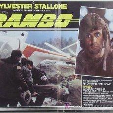 Cine: HY62 ACORRALADO RAMBO 1ER FILM SYLVESTER STALLONE POSTER ORIGINAL ITALIANO 47X68. Lote 179961845