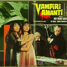 Cine: YG90D THE VAMPIRE LOVERS INGRID PITT PETER CUSHING HAMMER LESBIAN POSTER ORIGINAL ITALIANO 47X68. Lote 195455145