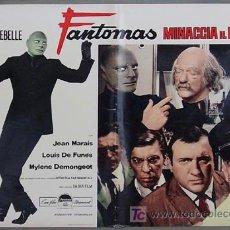 Cine: HY54 FANTOMAS VUELVE LOUIS DE FUNES JEAN MARAIS POSTER ORIGINAL ITALIANO 47X68. Lote 274941823