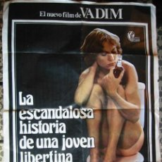 Cine: LA ESCANDALOSA HISTORIA DE UNA JOVEN LIBERTINA, DE ROGER VADIN, ESTRENO EN ESPAÑA. Lote 27405775