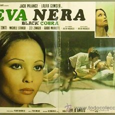 Cine: IB22 EVA NEGRA JOE D'AMATO LAURA GEMSER POSTER ORIGINAL ITALIANO 47X68. Lote 15060576