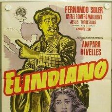 Cine: ID99 EL INDIANO AMPARO RIVELLES FERNANDO SOLER POSTER ORIGINAL ESTRENO 70X100 LITOGRAFIA. Lote 13416969