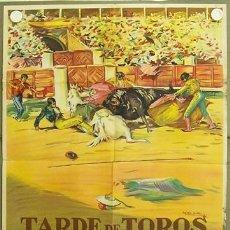 Cine: ID96 TARDE DE TOROS ANTONIO BIENVENIDA DOMINGO ORTEGA POSTER ORIGINAL ESTRENO 70X100 LITOGRAFIA. Lote 13417104